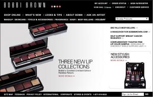 Бобби Браун официальный сайт (2003 год)
