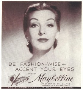Постер рекламы Maybelline. Be Fashion-Wise - Accent Your Eyes