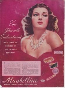 Постер рекламы Maybelline (Rita Hayworth). Eyes glow with enchantment