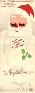 Рождественская открытка Maybelline