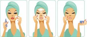 Увлажнение кожи во время снятия макияжа