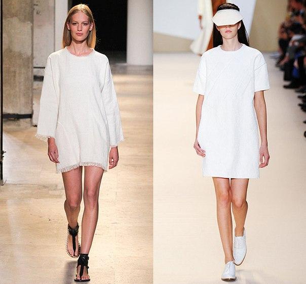 Маленькие белые платья в коллекции весна-лето 2015