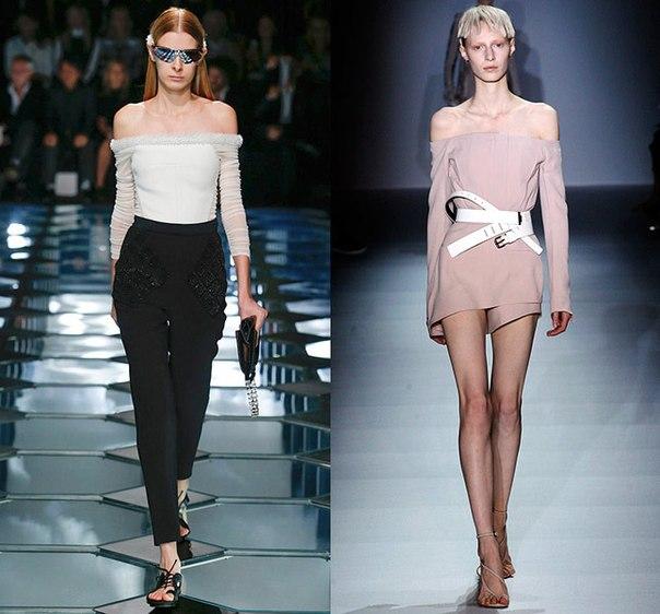 Тенденции моды весна-лето 2015: срезанные плечи