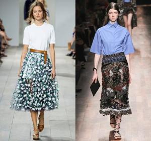 Тенденции моды весны-лета 2015: прозрачная юбка