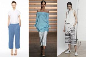 Весна-лето 2015 брюки широкого покроя