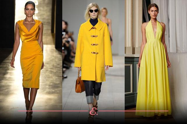 Желтый цвет в коллекции весна-лето 2015