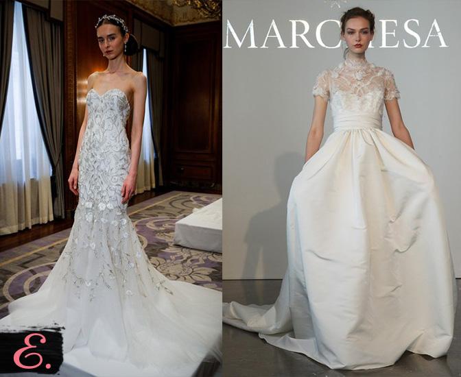 Свадебные платья 2015 Marchesa второе фото
