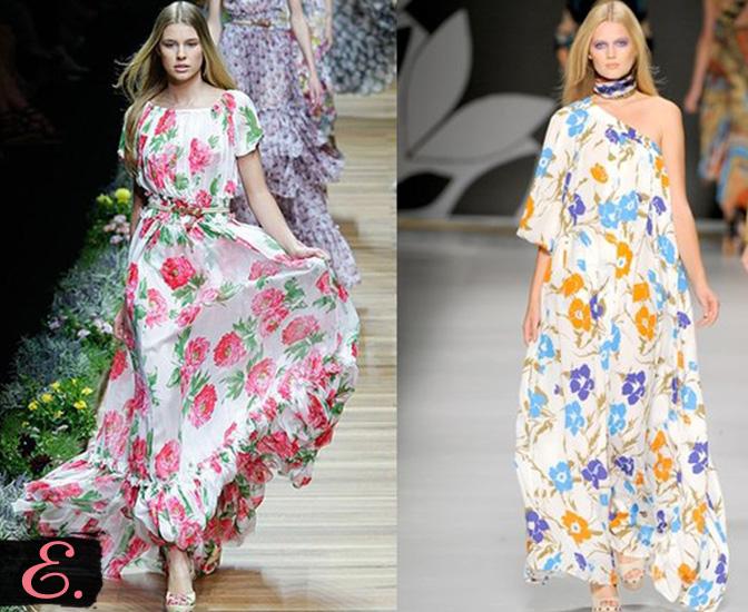 Платья с цветочным принтом коллекция 2015 года