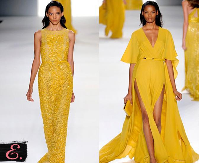 Желтые платья коллекция 2015 года первое фото