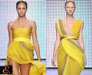 Желтые платья коллекция 2015 года второе фото
