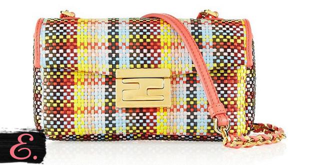 Соломенная сумка: Fendi