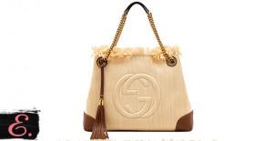 Соломенная сумка: Gucci