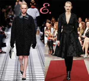 Мода осень-зима 2015-2016: Черные платья