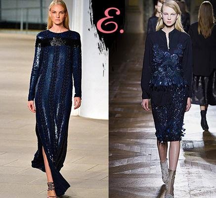 Мода осень-зима 2015-2016: Одежда из пайеток