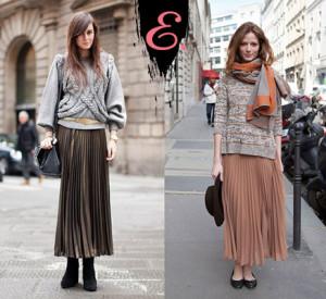 Мода осень-зима 2015-2016: Плиссированная юбка