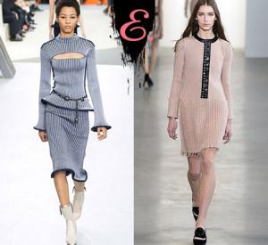 Мода осень-зима 2015-2016: Трикотажные платья